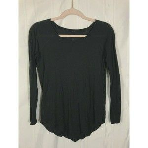 Lululemon Black 4 Crew Neck Athletic Blouse